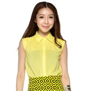 YesStyle Z - Sleeveless Button-Front Shirt