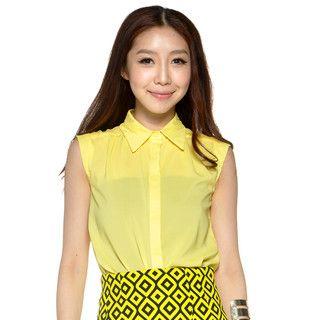 YesStyle Z - Sleeveless Button-Front Shirt