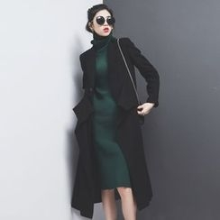 Sonne - Draped Waist Wool Coat
