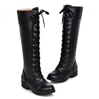 Sidewalk - Lace Up Tall Boots