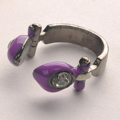 Fit-to-Kill - Diamond Note Ring - Purple