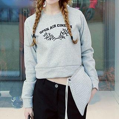 Lina - Long Sleeved Lettering Pullover