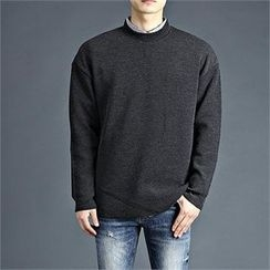 THE COVER - Round-Neck Plain T-Shirt