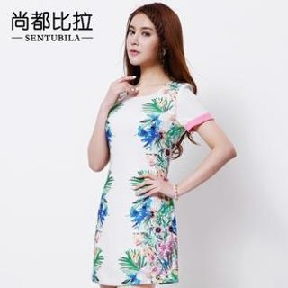Sentubila - Floral Print Sheath Dress