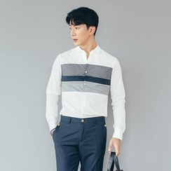DANGOON - Long-Sleeve Color-Block Shirt