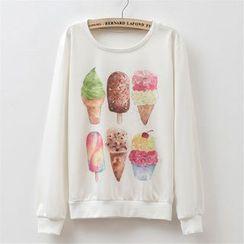 Maymaylu Dreams - 冰淇淋心情长袖T恤上衣