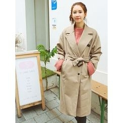LOLOten - Single-Breasted Trench Coat with Belt
