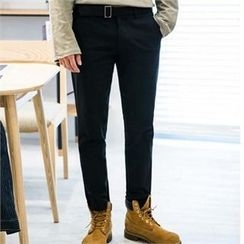 STYLEMAN - Colored Straight-Cut Pants