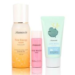Mamonde - First Energy Serum Set:  Serum 100ml + Rose Water Toner 25ml + Lotus Micro Cleansing Foam 50ml