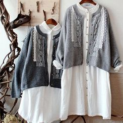 tete - Lace-Panel Cardigan