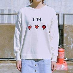 icecream12 - Crewneck Lettering Sweater