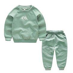 Kido - 小童套裝: 印花套衫 + 運動褲