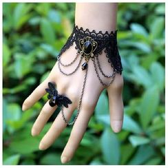 Amina - Gemstone Bracelet with Ring