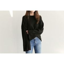 UPTOWNHOLIC - Ribbed Knit Top