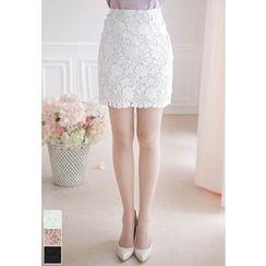 MyFiona - Lace Mini Skirt