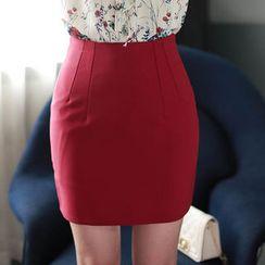 MyFiona - High-Waist Pencil Mini Skirt