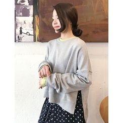 FROMBEGINNING - Slit-Side Dip-Back Sweatshirt
