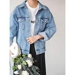 STYLEBYYAM - Pocket Detail Denim Jacket