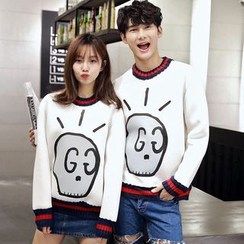 Azure - Couple Matching Print Neoprene Sweatshirt