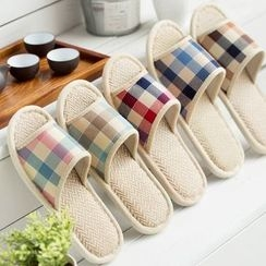 UnoStop - Couple Matching Check Slippers