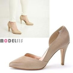 MODELSIS - Genuine Leather Pointy Pumps