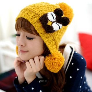 59 Seconds - Bird Patch Pompom Beanie