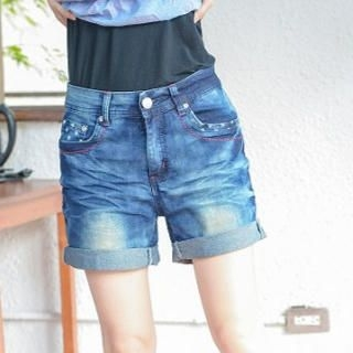 YoungBaby - Cuffed Denim Shorts