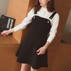 Cocofield - Set: Plain Shirt + Jumper Dress