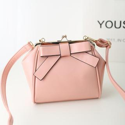 Youshine - Bow-Accent Kiss-Lock Shoulder Bag