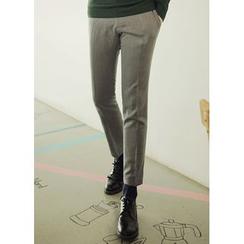 JOGUNSHOP - Flat-Front Pants