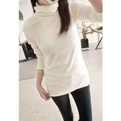 REDOPIN - Turtleneck Rib-Knit Top