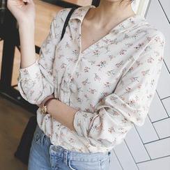 mimi&didi - Flower Pattern Blouse