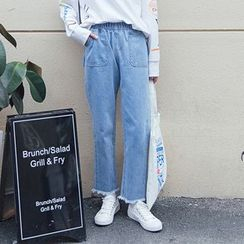 Napkiki - Elastic-Waist Slim-Fit Jeans