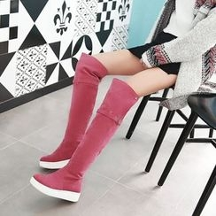Pretty in Boots - Platform Over-the-Knee Boots