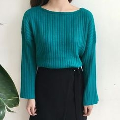 Dute - Ribbed Loose Fit Sweater