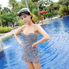 Tamtam Beach - Striped Ruffle Swimsuit