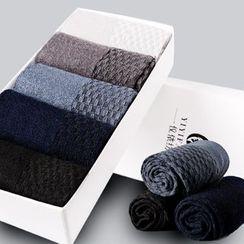 YiFFi - Set of 5 Pairs: Plain Socks