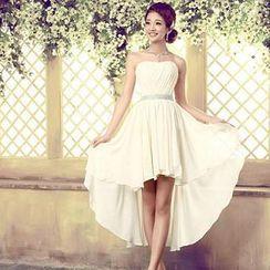 Bridal Workshop - Strapless High-Low Cocktail Dress