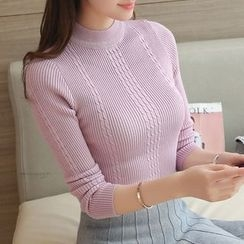 Cotton Candy - Mock Neck Sweater