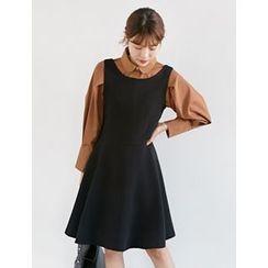 FROMBEGINNING - Sleeveless A-Line Dress