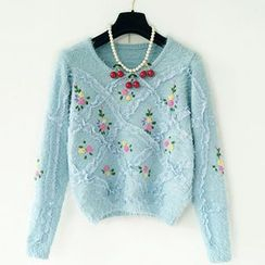 Cotton Candy - Embroidered Sweater