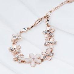 O.SA - Jeweled-Floral Bracelet