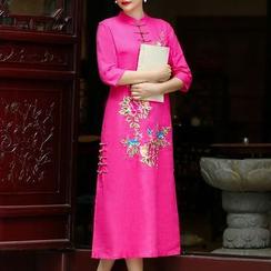 Miss Four Qipao - 七分袖碎花旗袍