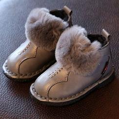 綠豆蛙童鞋 - 童裝毛毛短靴