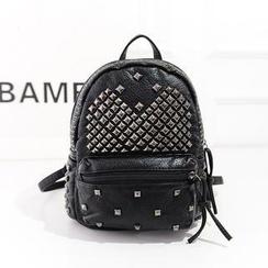 Bibiba - Studded Faux Leather Backpack