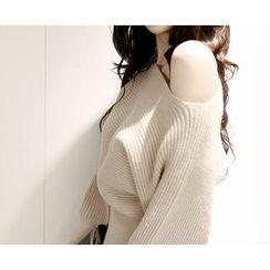 Marlangrouge - Boat-Neck Ribbed Knit Dress