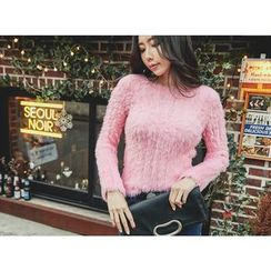 UUZONE - Furry Knit Sweater