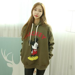 Dodostyle - Mickey Mouse Printed Hooded Pullover