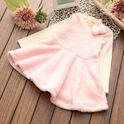 Spring Swallow - Kids Fleece A-Line Dress