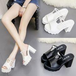 Yoflap - Block Heel Sandals